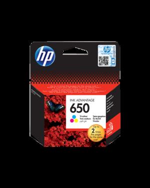 HP 650 Tri-color Original Ink Advantage Cartridge (CZ102AE)
